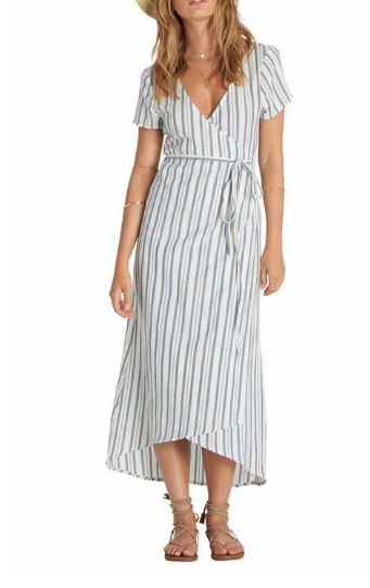 Billabong Right Side Tie Midi Striped Dress
